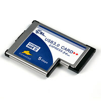 PCMCIA Express Card Karte 54mm 2 Port USB3.0 Win7 kompatibel für Notebook Laptop