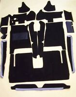 STUDEBAKER AVANTI  1965-1985 BLACK LOOP 18 PC. CARPET KIT with 20 oz. padding