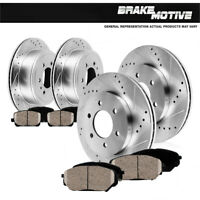 Front+Rear Brake Rotors + HD Ceramic Brake For Chevy Silverado 1500 GMC Sierra