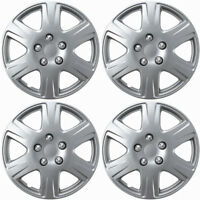 4pc Hub Caps Fits 05-08 Toyota Corolla 15 Inch Wheel Cover Rim Silver Skin