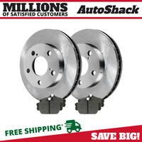 PREMIUM FRONT CERAMIC BRAKE PADS AND DISC ROTORS COMPLETE KIT LEFT