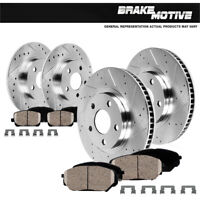 Front+Rear Brake Rotors And Ceramic Pads Fit Lexus ES350 Toyota Avalon Camry