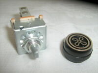 AIR CONDITIONING 3 SPEED BLOWER SWITCH WITH RESISTOR & 'FAN' KNOB INDAK BRAND