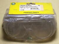 SAFETY GOGGLES - PLIABLE, VENTILATED, CLEAR PLASTIC FRAME, HARD LENS...