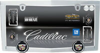 Official Licensed 'Cadillac™' Chrome License Plate Frame - Cruiser# 10330