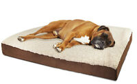 Orthopedic Dog Bed Pet Lounger Deluxe Cushion for Crate Foam Soft Fuzzy - XL