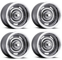 Vision Wheel 55-5783 Set of 4 Silver 55 Rally 15X7 6 Offset 6x5.5 Rims