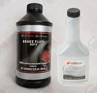 GENUINE DOT 3 Brake Fluid + Idemitsu Power Steering Fluid for Toyota Lexus Scion