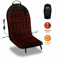 Zone Tech Heated Car Seat Heater Cushion 45 Minute Auto Shutoff Safety Timer
