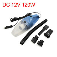 DC 12V 120W Portable Auto Car Handheld Wet Dry Vacuum Dirt Cleaner Duster Blue