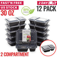 Meal Prep Containers Food Storage Bento Lunch Box Plastic Compartment Bulk Lids
