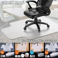 PVC Protector Computer Desk Chair Mat For Hardwood Floor / Carpet Home Office US