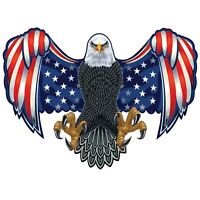 American Eagle USA Flag Wall Decal Truck Vehicle Decor Laptop 3M Sticker LO267