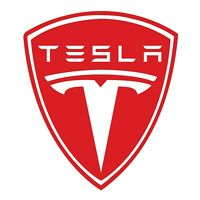Tesla Red & White Wall Decal Truck Vehicle Decor Window Laptop 3M Sticker LO347
