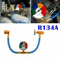 1x Car Air Conditioning Refrigerant Recharge Gas Pressure Gauge R134A Hose Kit