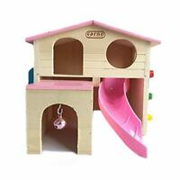 Mini Pet Small Animal Supplies Hideout Hamster House With Climbing Ladder