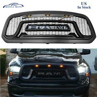 Rebel Style Front Grille Mesh Grill For Dodge Ram 1500 2013-18  w/LED Lights