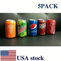 Beer can covers 5 pack silicone beverage sleeve hide a beer that look like soda