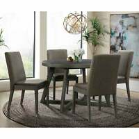 Picket House Furnishings Hudson Round 5PC Dining Set-Table & Grey 5-Piece Sets
