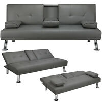 Convertible Sofa Sleeper Couch Loveseat Futon Sofa Bed PU Leather Living Room