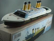 Titanic steam boat tin toy
