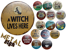 Targa metal sign witch beer garage