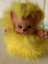 Rauls yellow fur kitten cat happy