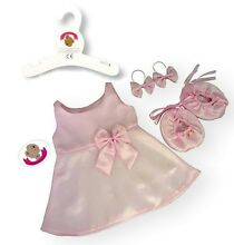 Teddy bear clothes fit dress pink