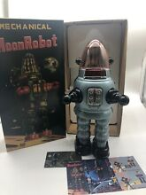 Moon robot gray yonezawa tin toy