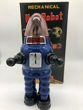 Moon robot blue yonezawa tin toy