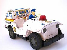 Tin toy 1960 japan t v jeep patrol