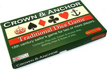 Crown anchor traditional dice game
