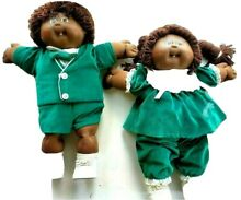 1980s african american twins green