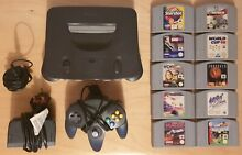 N64 console bundle plus 10 x games