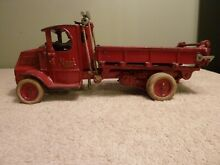 Cast iron mack dump truck 12 1 4