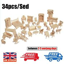 34pcs set new wooden furniture