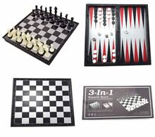 3 in 1 magnetic chess board set