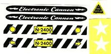 Electric cannon decal set