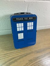 Doctor who tardis tin case lunchbox