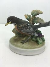 Robin by porcelain figurine statue