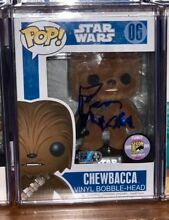 Autographed flocked chewbacca 480pc