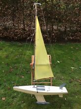 Large wooden model boat 65 tall 36