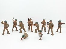 10 manoil lead toy soldiers army