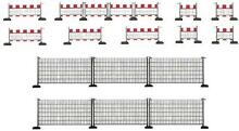 Ho scale safety barriers 46cm long