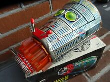 Tin toy japan new space capsule box