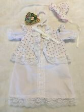 Preemie gown flower clothes doll