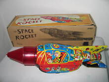 Collectable tin toy space rocket
