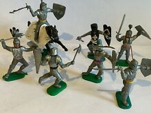 Medieval knights on foot one on