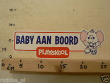 Sticker decal baby aan boord large
