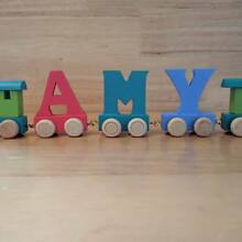 Wooden letters personalised name